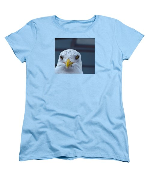 Women's T-Shirt (Standard Cut) featuring the photograph In Your Face Gull by Richard Ortolano