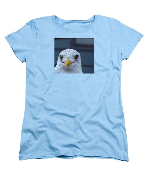 In Your Face Gull Women's T-Shirt (Standard Cut) by Richard Ortolano