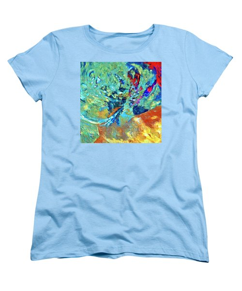 Women's T-Shirt (Standard Cut) featuring the painting Incursion by Dominic Piperata