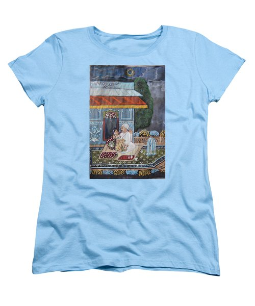 Women's T-Shirt (Standard Cut) featuring the painting Indian Romance by Vikram Singh