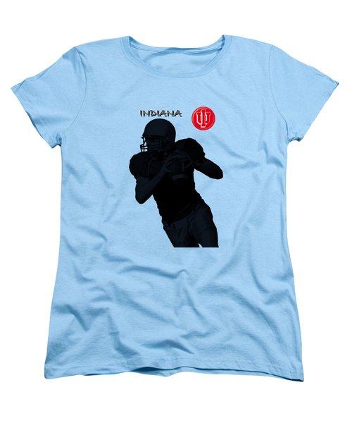 Indiana Football Women's T-Shirt (Standard Cut) by David Dehner
