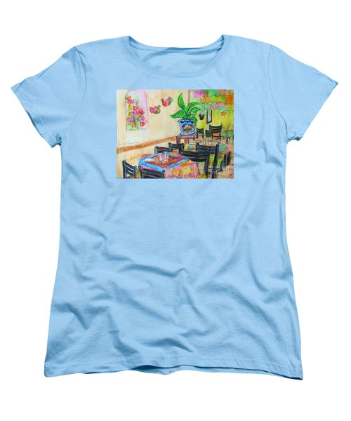 Indoor Cafe - Gifted Women's T-Shirt (Standard Cut) by Judith Espinoza