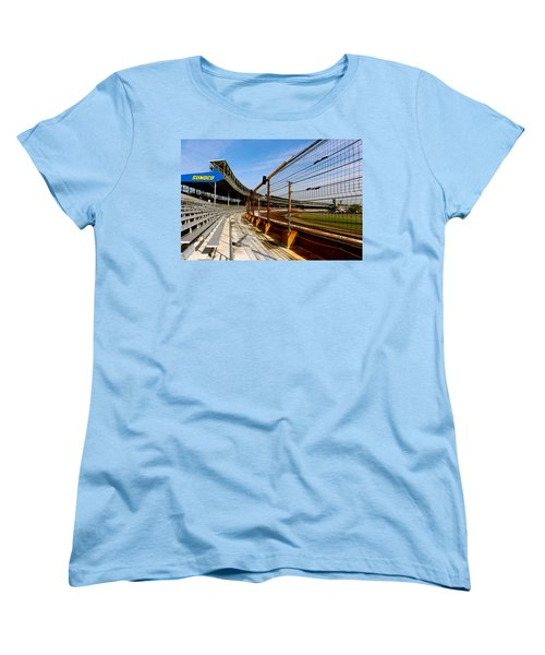Women's T-Shirt (Standard Cut) featuring the photograph Indy  Indianapolis Motor Speedway by Iconic Images Art Gallery David Pucciarelli