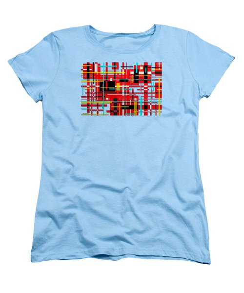 Women's T-Shirt (Standard Cut) featuring the digital art Intersection by Shawna Rowe
