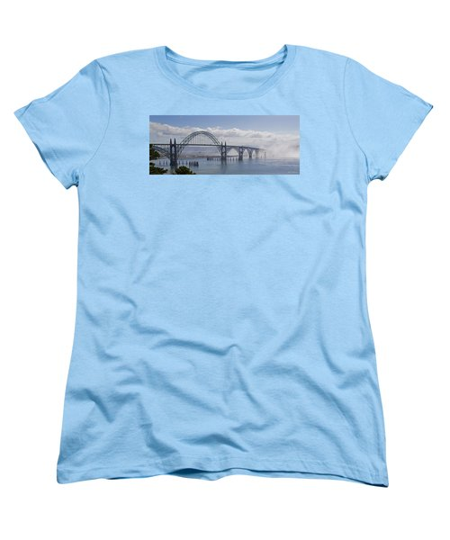 Into The Fog At Newport Women's T-Shirt (Standard Cut) by Mick Anderson