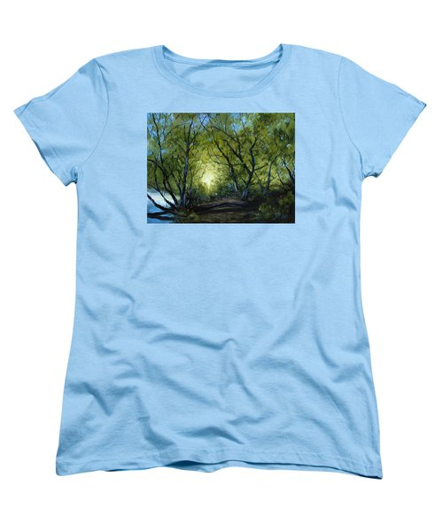 Women's T-Shirt (Standard Cut) featuring the painting Into The Light by Billie Colson
