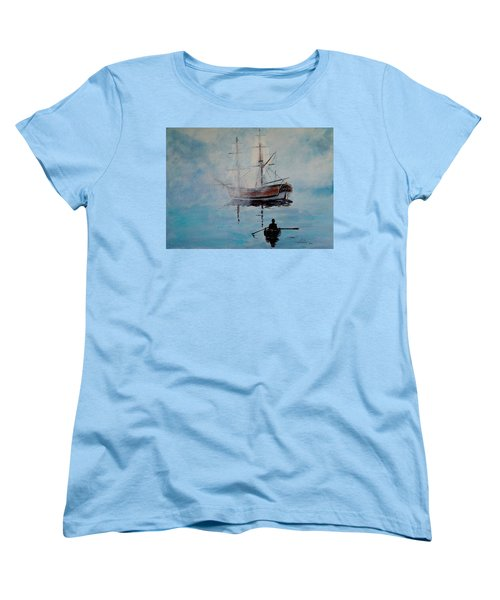Into The Mist Women's T-Shirt (Standard Cut) by Alan Lakin
