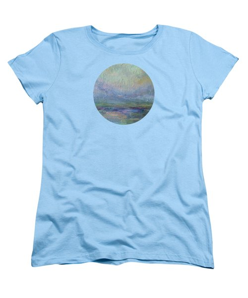 Women's T-Shirt (Standard Cut) featuring the painting Into The Morning by Mary Wolf