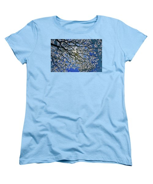Women's T-Shirt (Standard Cut) featuring the photograph Into The Sun by Linda Unger