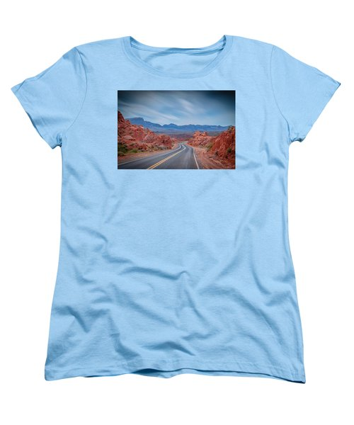 Into The Valley Of Fire Women's T-Shirt (Standard Cut) by Mark Dunton