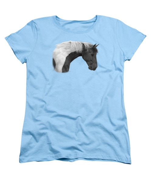 Intrigued - Black And White Women's T-Shirt (Standard Cut) by Lucie Bilodeau