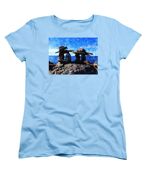 Inukshuk Women's T-Shirt (Standard Cut) by Zinvolle Art
