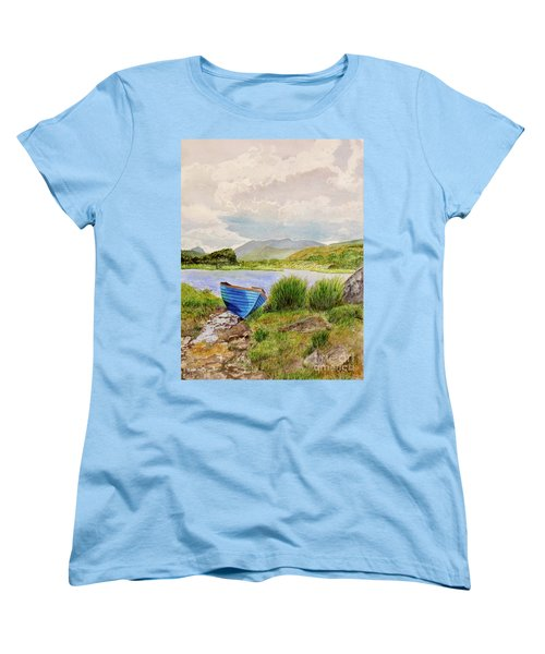 Women's T-Shirt (Standard Cut) featuring the painting Ireland by Carol Flagg