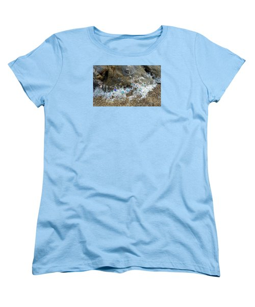 Iridescent Seafoam Necklace Women's T-Shirt (Standard Cut) by Amelia Racca