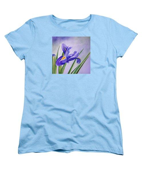 Women's T-Shirt (Standard Cut) featuring the painting Iris by Allison Ashton