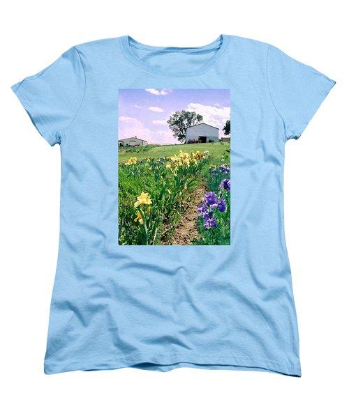 Women's T-Shirt (Standard Cut) featuring the photograph Iris Farm by Steve Karol