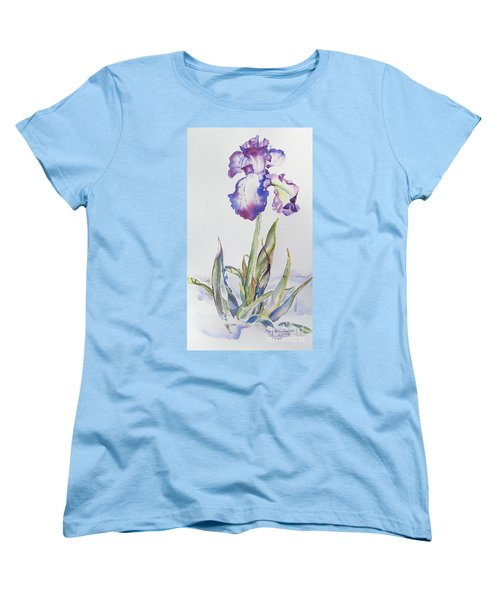Iris Passion Women's T-Shirt (Standard Cut) by Mary Haley-Rocks