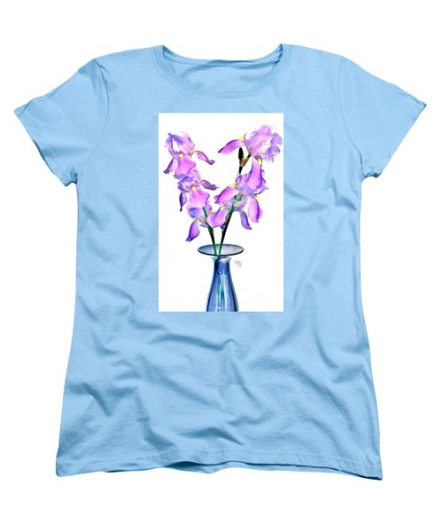 Iris Still Life In A Vase Women's T-Shirt (Standard Cut)