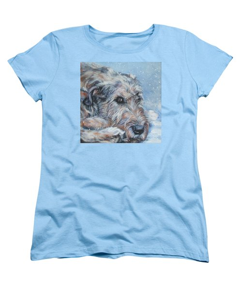 Irish Wolfhound Resting Women's T-Shirt (Standard Cut) by Lee Ann Shepard