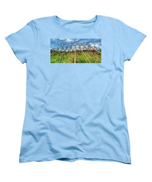 Irrigation Pipes 1 Women's T-Shirt (Standard Cut) by Jerry Sodorff