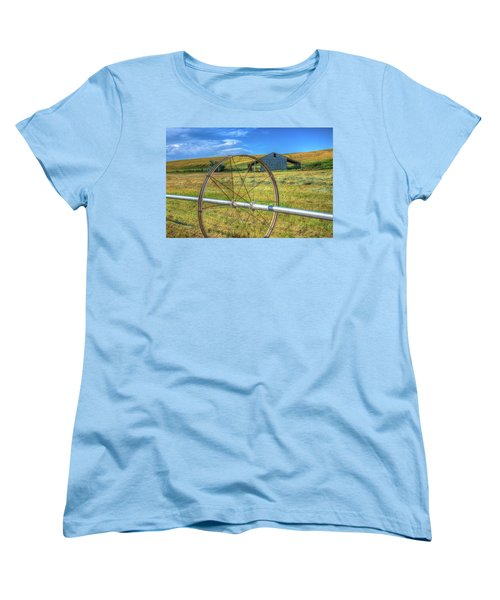 Irrigation Water Wheel Hdr Women's T-Shirt (Standard Cut) by James Hammond