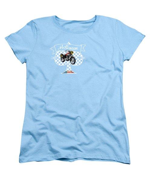 Isdt Triumph Steve Mcqueen Women's T-Shirt (Standard Cut) by Mark Rogan