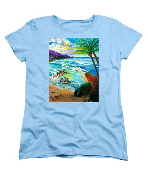 Island Sisters Women's T-Shirt (Standard Cut) by Karon Melillo DeVega