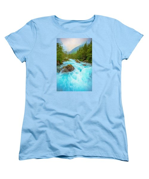 Women's T-Shirt (Standard Cut) featuring the photograph Istra River by Rose-Maries Pictures