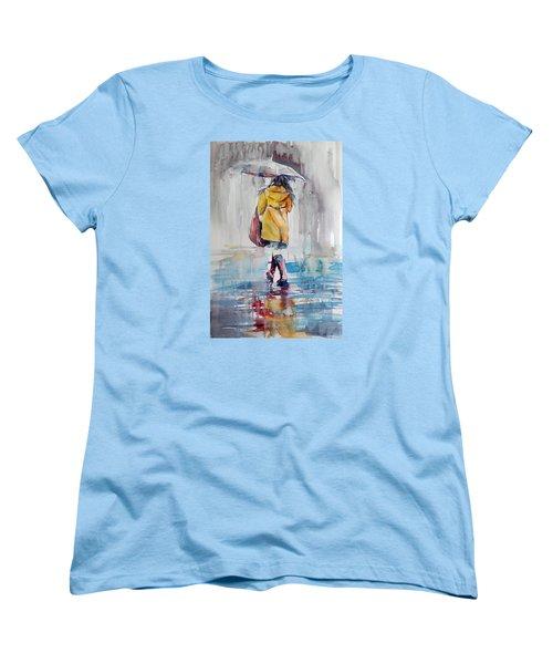 It Is Raining Women's T-Shirt (Standard Cut) by Kovacs Anna Brigitta