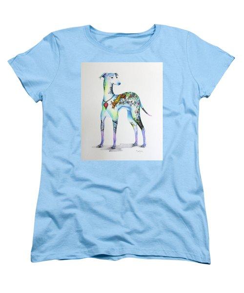 Italian Greyhound Tattoo Dog Women's T-Shirt (Standard Cut) by Patricia Lintner