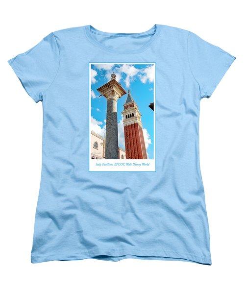 Italy Pavilion, Epcot, Walt Disney World Women's T-Shirt (Standard Cut) by A Gurmankin