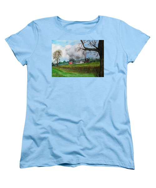 It's All Uphill To Scotland Women's T-Shirt (Standard Cut) by Carole Robins