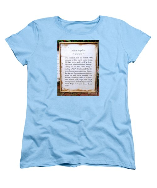 I've Learned Women's T-Shirt (Standard Cut) by Ed Weidman