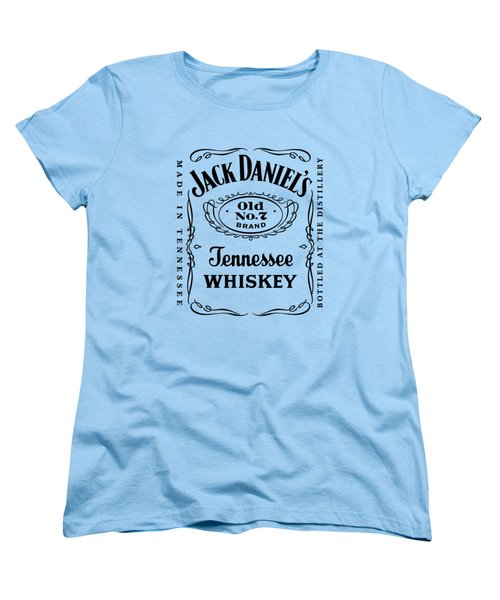 Jack Daniels In Black Women's T-Shirt (Standard Cut) by Ericamaxine Price