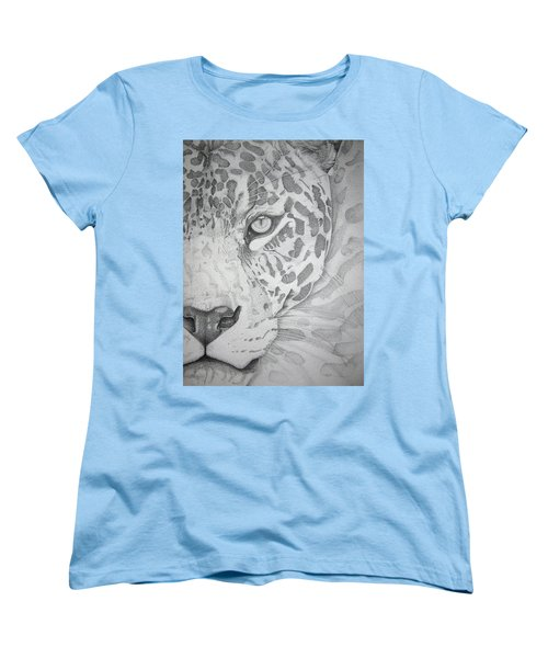 Jaguar Pointillism Women's T-Shirt (Standard Cut) by Mayhem Mediums