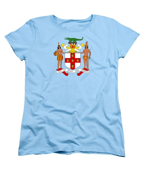 Women's T-Shirt (Standard Cut) featuring the drawing Jamaica Coat Of Arms by Movie Poster Prints