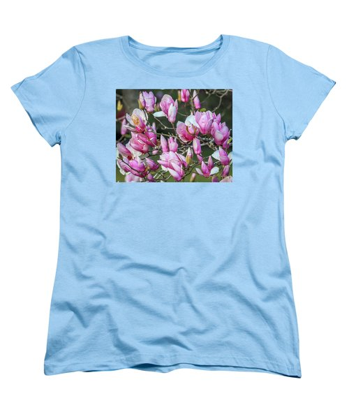 Women's T-Shirt (Standard Cut) featuring the photograph Japanese Blooms by Gregory Daley  PPSA