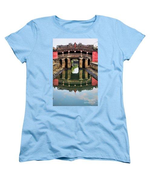 Japanese Bridge  Hoi An Women's T-Shirt (Standard Cut) by Chuck Kuhn