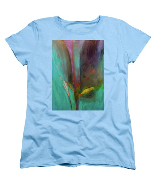 Women's T-Shirt (Standard Cut) featuring the painting Japanese Longstem  by Iconic Images Art Gallery David Pucciarelli