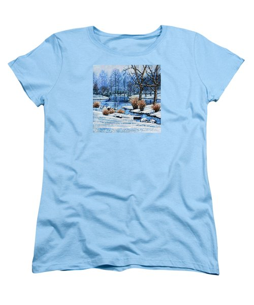Japanese Winter Women's T-Shirt (Standard Cut) by John Lautermilch