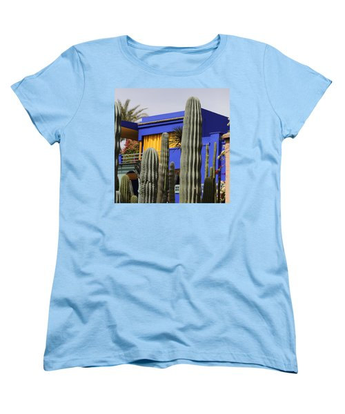Women's T-Shirt (Standard Cut) featuring the photograph Jardin Majorelle 5 by Andrew Fare