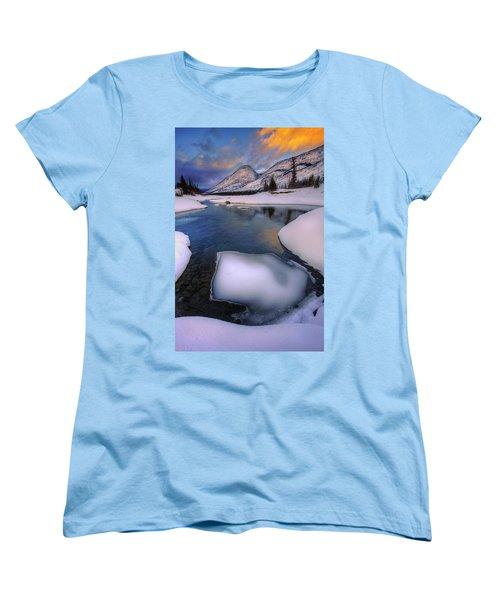 Women's T-Shirt (Standard Cut) featuring the photograph Jasper In The Winter by Dan Jurak