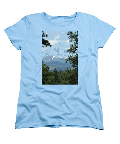 Women's T-Shirt (Standard Cut) featuring the photograph Jefferson Pines by Laddie Halupa