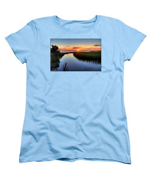Jeffres Reflections Women's T-Shirt (Standard Cut) by John Loreaux