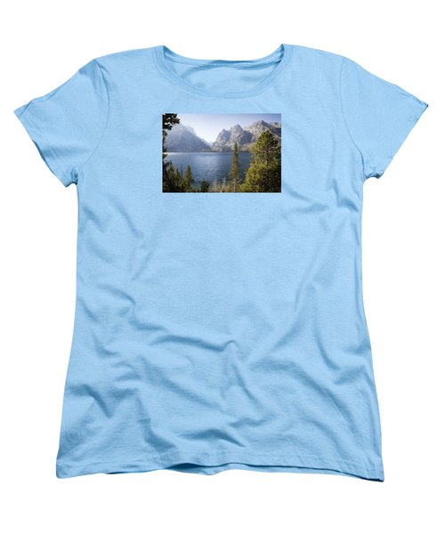 Women's T-Shirt (Standard Cut) featuring the photograph Jenny Lake by Shirley Mitchell