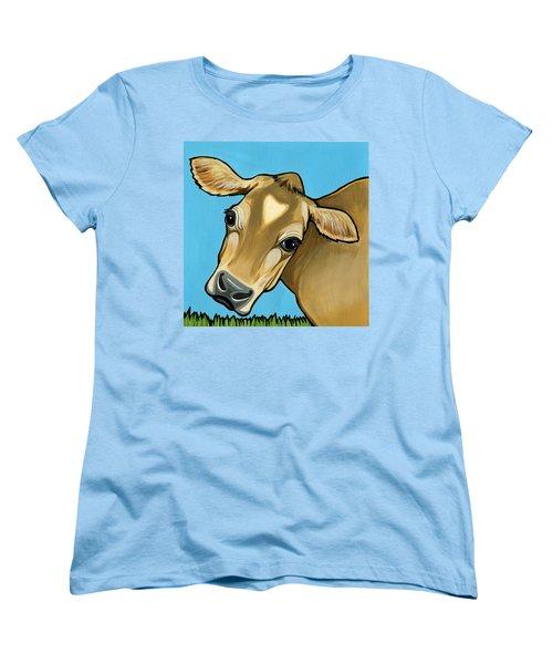 Jersey Women's T-Shirt (Standard Cut) by Leanne Wilkes