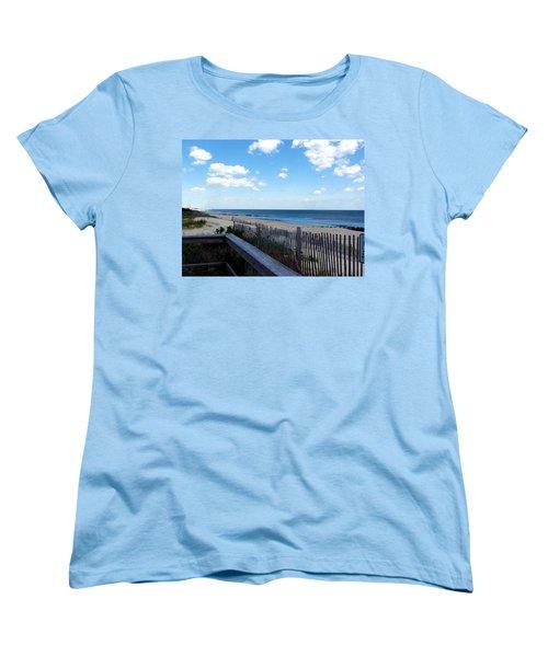 Jersey Shore Women's T-Shirt (Standard Cut) by Judi Saunders