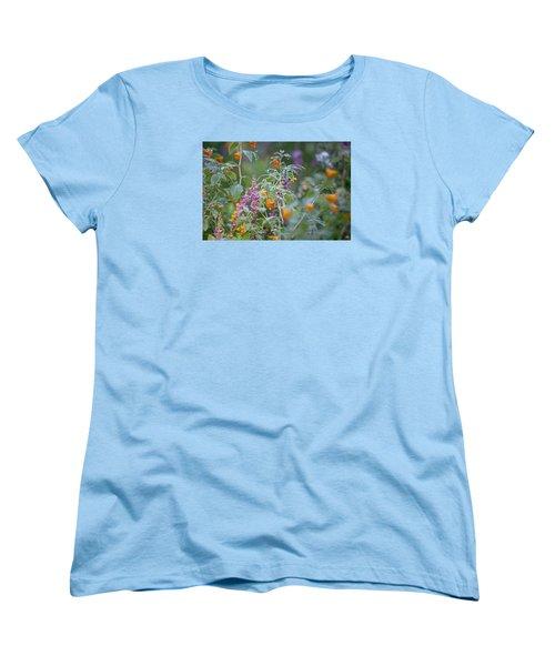 Jewel Weed With Dew Diamonds Women's T-Shirt (Standard Cut)
