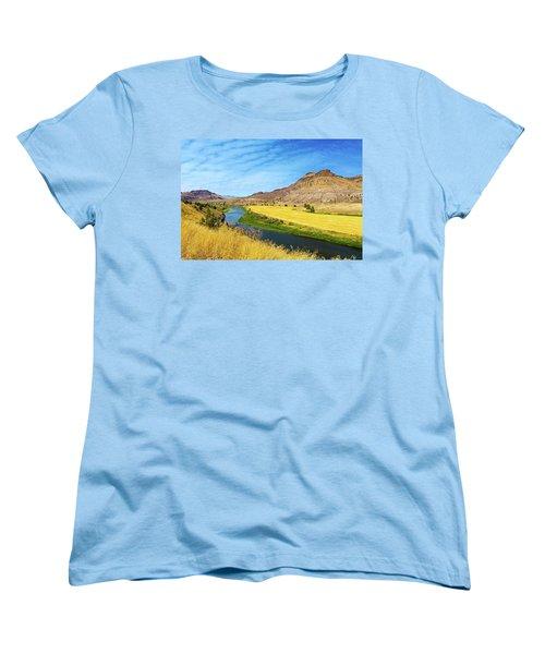 John Day River Panoramic View Women's T-Shirt (Standard Fit)