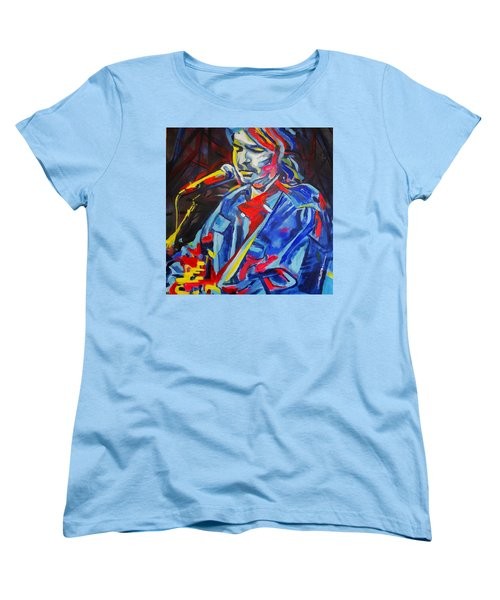 Women's T-Shirt (Standard Cut) featuring the painting John Prine #3 by Eric Dee